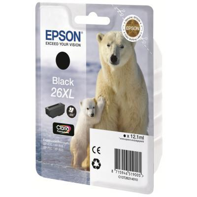 Картридж EPSON 26XL XP600/605/700 black pigment (C13T26214010/C13T26214012)