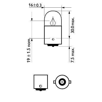 Audi 80 Автомобильная лампа R5W LongeRLife EcoVision 12V BA15s PHILIPS PHI 12821LLECOCP, фото 2