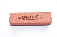 Баф для ногтей Salon Professional 180/180 розовый