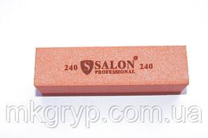 Баф для нігтів Salon Professional 240/240, рожевий