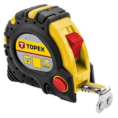 Рулетка Topex сталева стрічка 10 м x 32 мм, магніт (27C340)