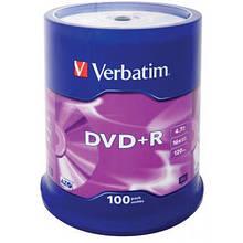 Диск DVD Verbatim 4.7Gb 16X CakeBox 100шт (43551)