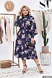 Элегантное платье актуальной принтовой расцветки размеры 48-50,52-54,56-58, фото 4