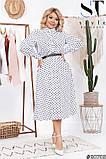 Элегантное платье актуальной принтовой расцветки размеры 48-50,52-54,56-58, фото 5