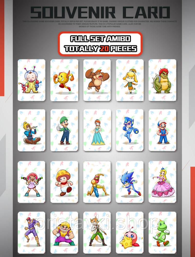 NFC Amiibo Mario Kard 8 Deluxe 20шт