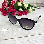 Модні чорні сонцезахисні окуляри лінза polarized, фото 6