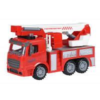 Спецтехника Same Toy инерционная Truck Пожарная машина с подъемным краном со свет (98-617AUt)