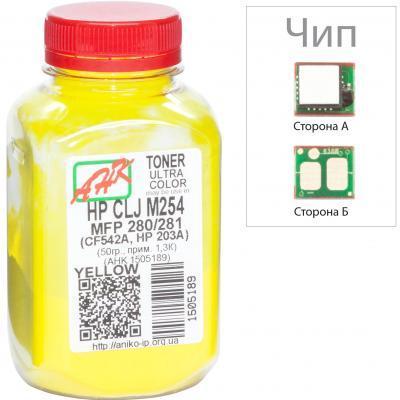 Тонер HP CLJ M254/MFP280/281 60г Yellow +chip AHK (1505193)