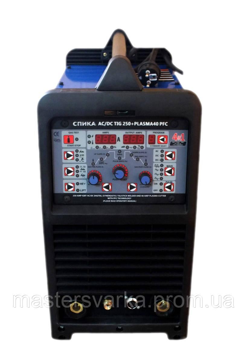 Апарат для аргонодугового зварювання СПІКА AC/DC TIG 250 + PLASMA 40 PFC