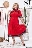 Романтическое платье в винтажном стиле  размеры 50, 52, 54, 56, 58, 60, 62, фото 5