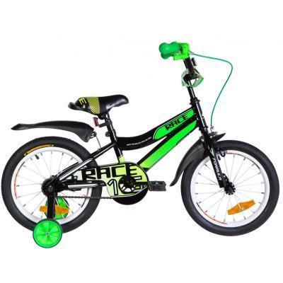 """Детский велосипед Formula 16"""" RACE рама-9"""" St 2020 черно-зеленый с белым (OPS-FRK-16-104)"""