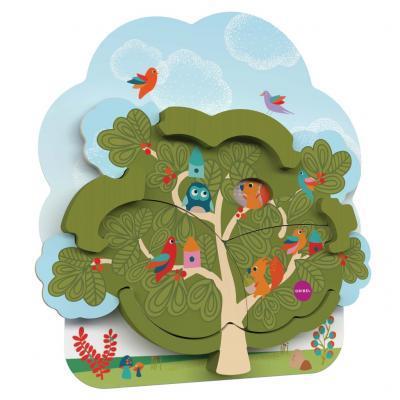 Розвиваюча іграшка Oribel настінна Будинок містера Білки на дереві (OR801-90001)