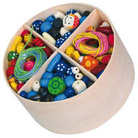 Набор для творчества Viga Toys Деревянные бусинки (56002)