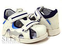 Босоніжки дитячі Clibee AB-10 rice-blue 21-26 шкіра