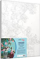 Набір-стандарт, техніка акрилова живопис за номерами Ніжність квітів, фото 1