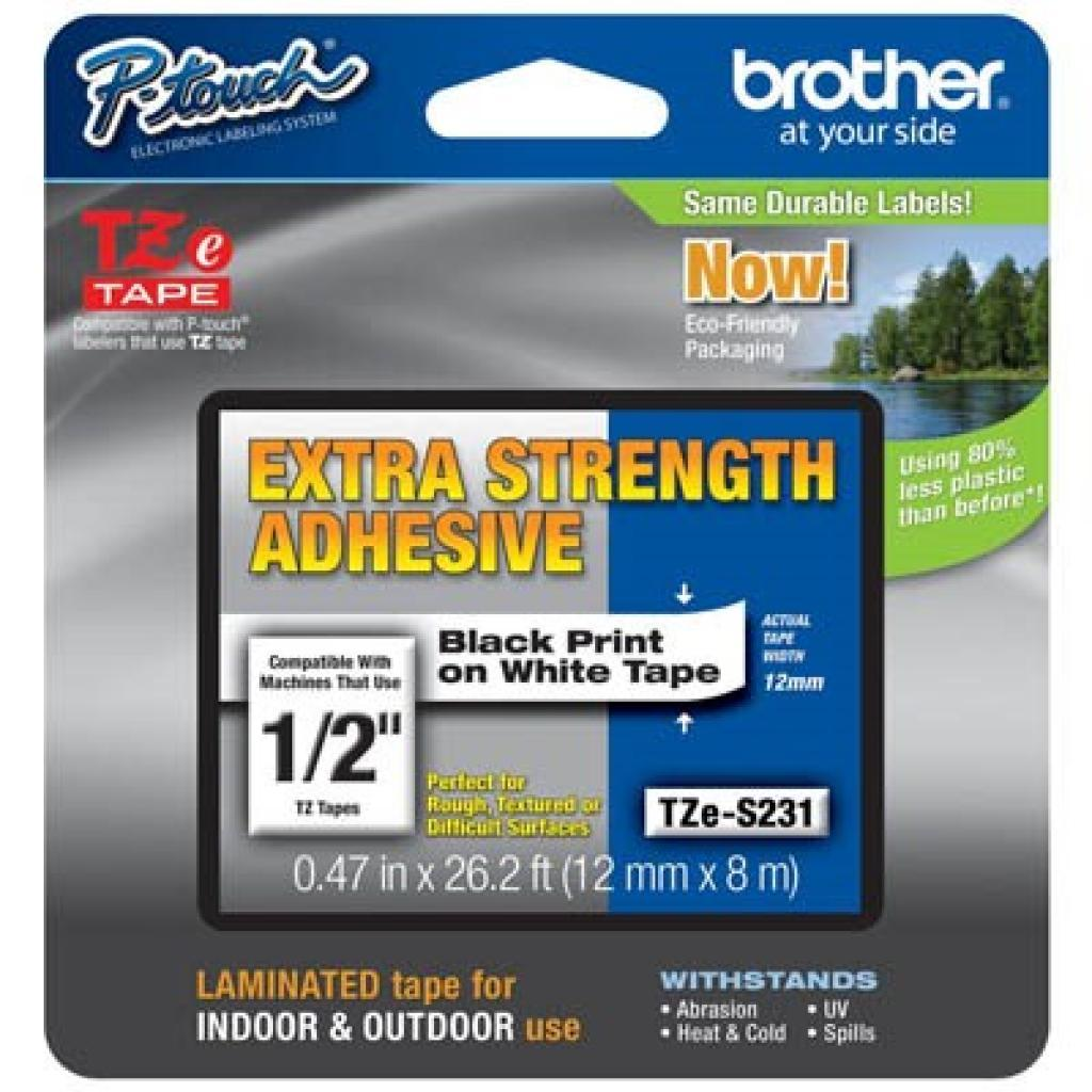 Стрічка для принтера етикеток Brother TZES231