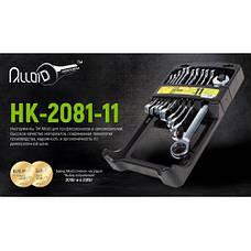 Alloid. Набор ключей комб. трещот. 11 предм, 8,9,10,11,12,13,14,15,16,17,19мм.(НК-2081-11) (НК-2081-11), фото 2