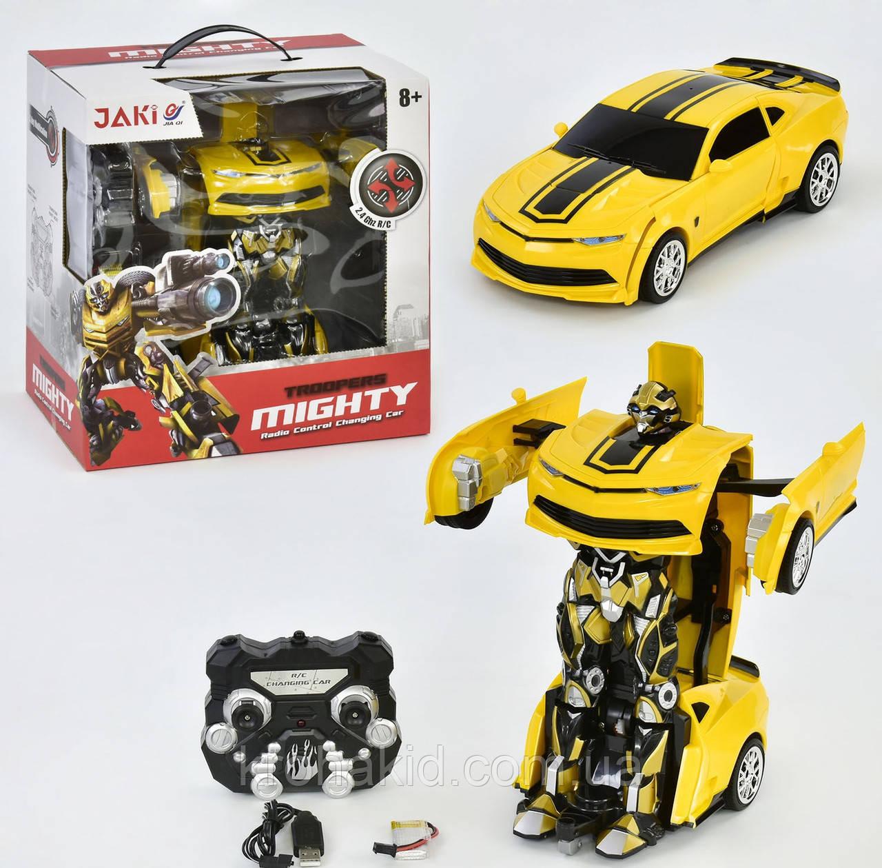 Радіокерований трансформер автобот Бамблбі / Transformer bumblebeeJQ Mighty TT671
