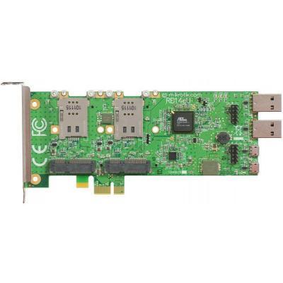 Контроллер Mikrotik RB14EU/PCIE to 4x 3G miniPCIE (RB14EU)