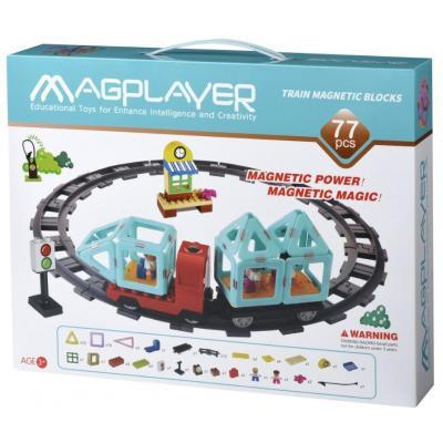 Конструктор Magplayer Поїзд 77 ел (MPH2-77)
