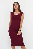 S, M, L / Класичне жіноче плаття-футляр Roksen, марсала M (44-46)