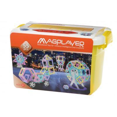 Конструктор Magplayer магнітний набір бокс 55 ел. (MPT2-55)