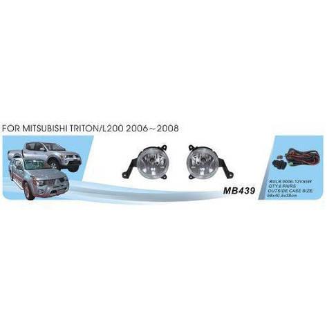 Фары доп.модель Mitsubishi Triton/L200 2006-08/MB-439W/9006-55W/эл.проводка (MB-439W), фото 2