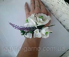 Комплект Эустома лаванда фрезии Свадебные украшения  Бело-фиолетовая свадьба браслет для свидетельницы