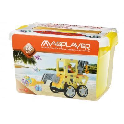 Конструктор Magplayer магнитный набор бокс 68 эл (MPT2-68)