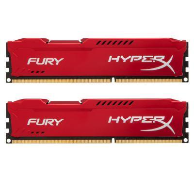 Модуль памяти для компьютера DDR3 8Gb (2x4GB) 1866 MHz HyperX Fury Red Kingston (HX318C10FRK2/8)