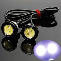 Врезная LED-лампа Линза Ксенон 2шт 18мм black (черный)