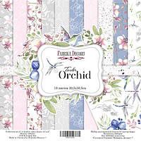 "Набор бумаги ""Tender orchid"" 30,5 х 30,5 см. 10 листов, фото 1"