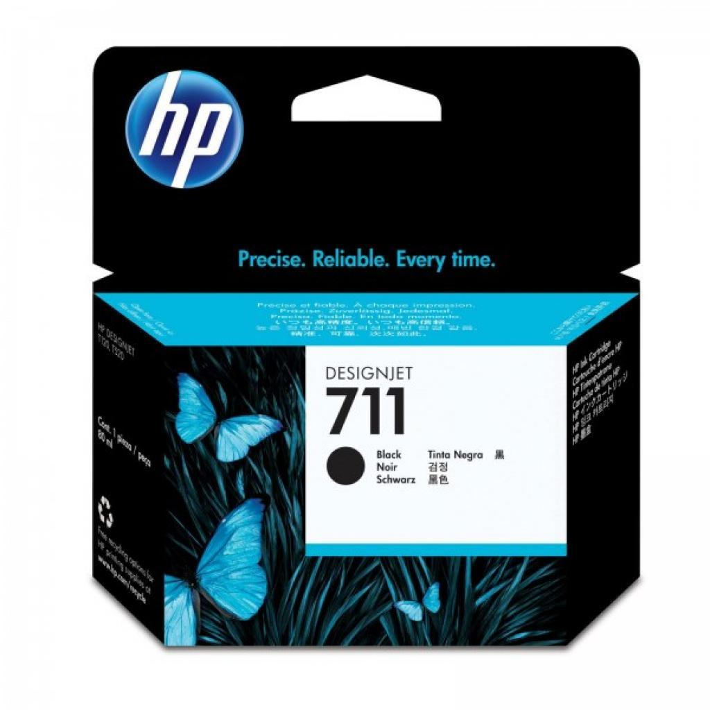 Картридж HP DJ No.711 DesignJet 120/520 Black 80ml (CZ133A)