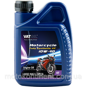 Мотоциклетное масло 10W-40 синтетическое Vatoil Motorcycle 4T full synthetic 10W40 / 1л. от KROON OIL