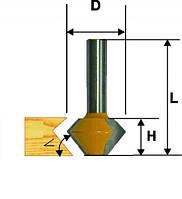 Фреза кромочная конусная ф41.3х22.2, 30/60°, хв.12мм (арт.10640)