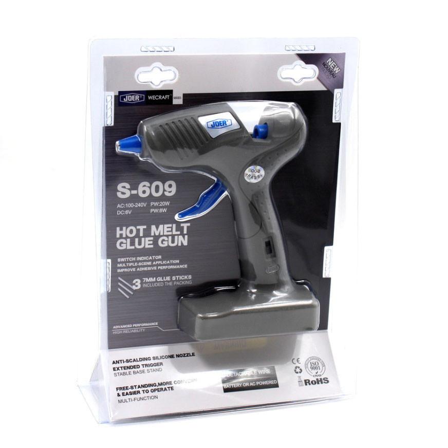 Пистолет для силиконового клея S 609 от сети 220В и батареек AAх4шт (Арт:7136-5456)