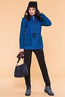 """Короткое женское демисезонное пальто - синее """"S"""" (13991.2.1)"""