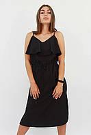 S, M, L | Молодежное повседневное черное платье Janice