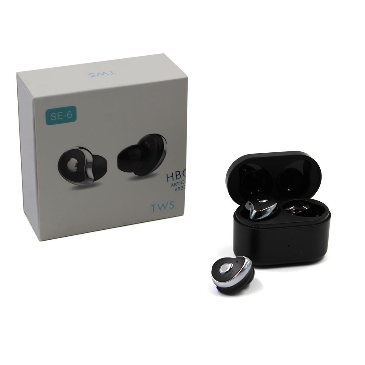 Навушники MDR HBQ SE6 TWS BT черныеые