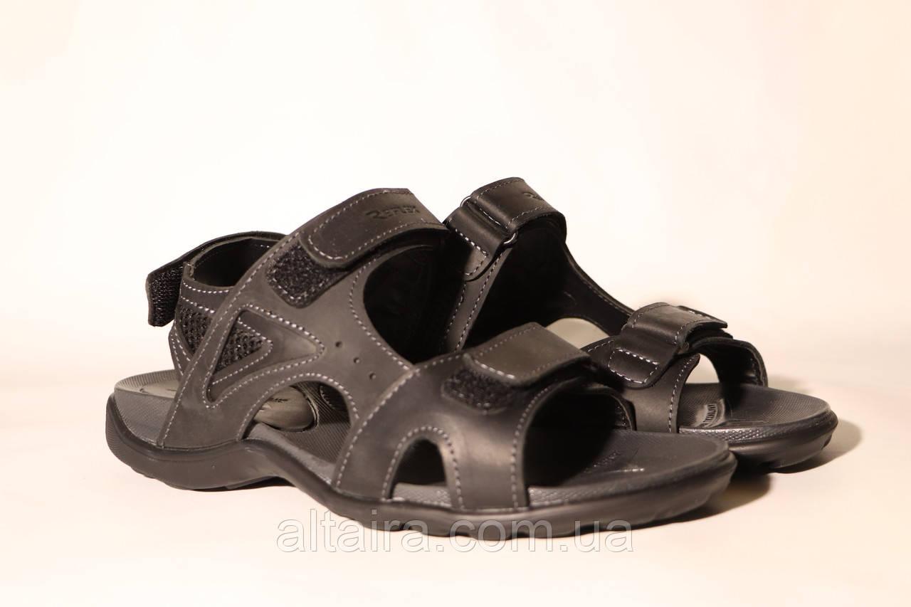 Черные кожаные мужские сандалии
