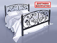 Кровать металлическая двуспальная Магнолия