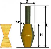 Фреза кромочная конусная ф28.6х45, 14°, хв.12мм (арт.10643)