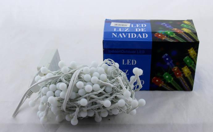 Светодиодная LED гирлянда Xmas 100 WW-6-1 маленький шарик (тёплый белый диод), фото 2