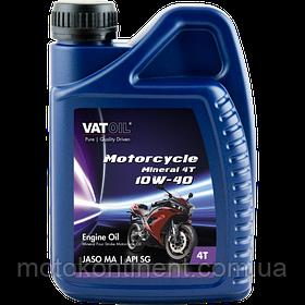 Мотоциклетное масло 10W-40 минералка Vatoil Motorcycle 4Tmineral 10W40 / 1л. от KROON OIL