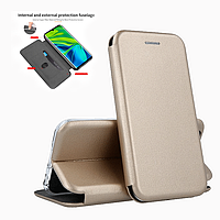 Чехол книжка Level для Samsung Galaxy A30 A305F Gold (Самсунг А30 золотая)