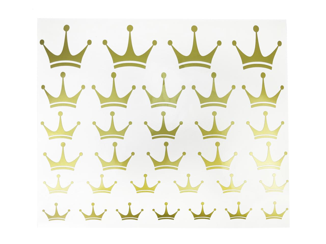 Набор наклеек короны золотые