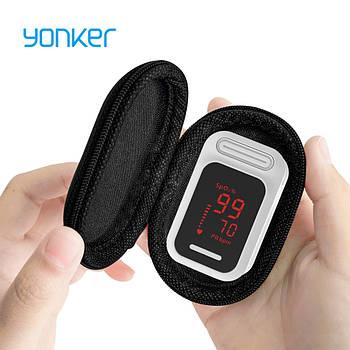 Пульсоксиметр на палец Yonker для изменения пульса и сатурации крови Fingertip Pulse Oximeter White YK-83A