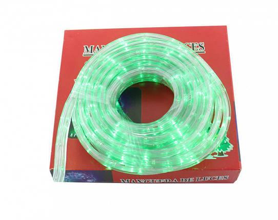 Светодиодная LED гирлянда Xmas Rope light 10M G уличная (зелёный диод), фото 2