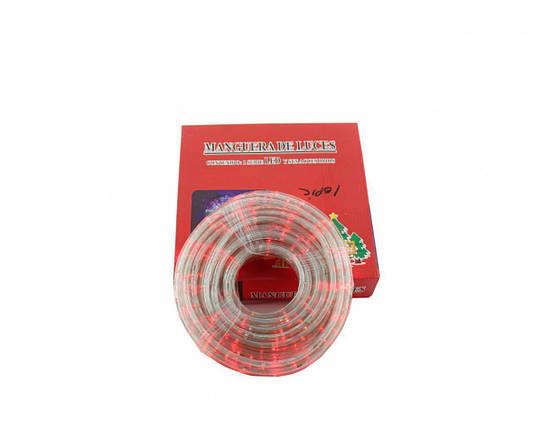 Светодиодная LED гирлянда Xmas Rope light 10M R уличная (красный диод), фото 2