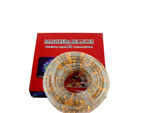 Светодиодная LED гирлянда Xmas Rope light 10M WW уличная (тёплый белый диод), фото 2